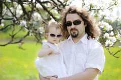 Young father and his daughter Royalty Free Stock Image