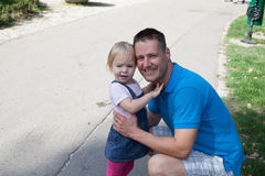 Young father and his daughter having fun on beautiful summer day Stock Image