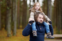 Young father and his daughter portrait Stock Photo