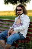 Young father with his little baby girl Stock Images