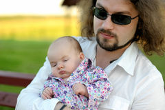 Young father with his little baby girl Royalty Free Stock Image