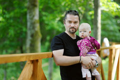 Young father and his little daughter Royalty Free Stock Photo