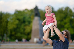 Young father holding his little girl Royalty Free Stock Photography