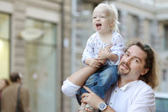 Young father holding his little girl Royalty Free Stock Image
