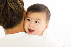 Young  father holding sweet baby boy Royalty Free Stock Image