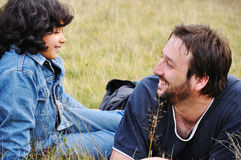 Young father and little cute girl Stock Photo