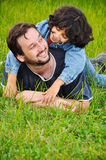 Young father and little cute girl Royalty Free Stock Photos