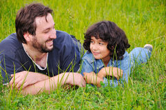 Young father and little cute girl Stock Images