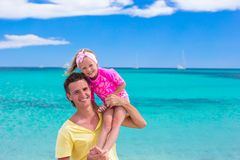 Young father and little daughter have fun during Royalty Free Stock Photo