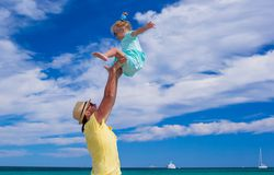 Young father and little daughter have fun during Stock Photo