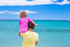 Young father and little daughter have fun during Royalty Free Stock Images