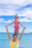 Young father and little daughter have fun during Royalty Free Stock Image