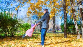Young father and little girl enjoy vacation in Royalty Free Stock Photography