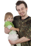 Young father with little son Royalty Free Stock Image