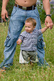 Young father with little son at park Stock Photography
