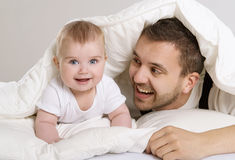 Father and child Stock Images