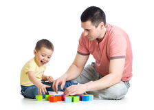 Young father playing with his son kid Royalty Free Stock Photography