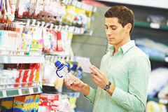 Young father shopping Stock Images