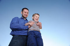 Young father and son Stock Image