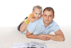 Young father spend time with his daughter Royalty Free Stock Photos