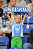 Young FC Dnipro fan Stock Photos