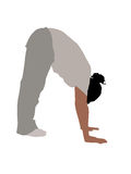 Young fellow bending down. On white background royalty free illustration