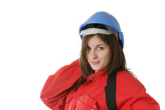 Young female apprentice Stock Photos