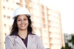 Young female architect Stock Image