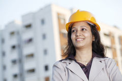 Young female architect Royalty Free Stock Image