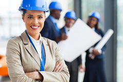 Young female architect Royalty Free Stock Photos