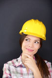 Young female architect, engineer or surveyor Royalty Free Stock Photography