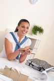 Young female architect sitting at the office Stock Image