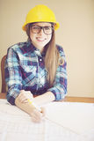 Young female architect Stock Images