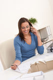 Young female architect working at office Royalty Free Stock Photo