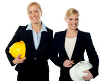 Young female architects Stock Images