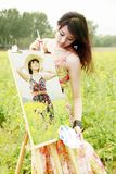Young female artist Royalty Free Stock Images