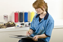Young female artist at work Royalty Free Stock Photography