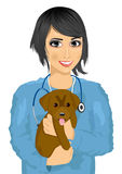 Young female asian veterinarian Stock Photo