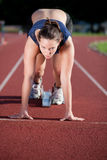 Young female athlete Stock Photography