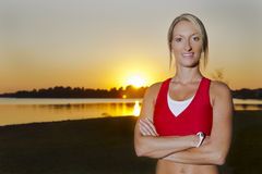 Young Female Athlete Royalty Free Stock Photo