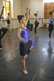Young female ballerinas at Pro Danza Ballet dance studio and school, Cuba Stock Photography