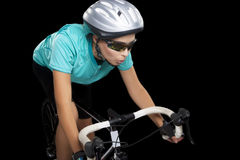 Young female bike athlete Stock Photos