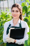 Young female bio researcher Stock Image