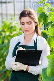 Young female bio researcher Stock Images
