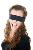 Young female with blindfold Royalty Free Stock Images