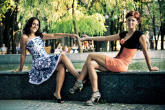 Young female bonding Stock Photos