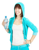 Young female with bottle of water Stock Photography