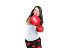 Young female boxer Stock Photos