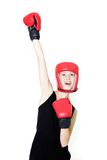Young female boxer Royalty Free Stock Photos