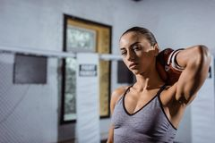 Young female boxer Royalty Free Stock Images